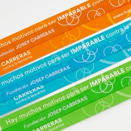 Pack de pulseras solidarias para bodas y celebraciones en la lucha contra el cáncer Fundación Josep Carreras