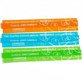 Pack pulseras de tela solidarias contra el cáncer Fundación Josep Carreras