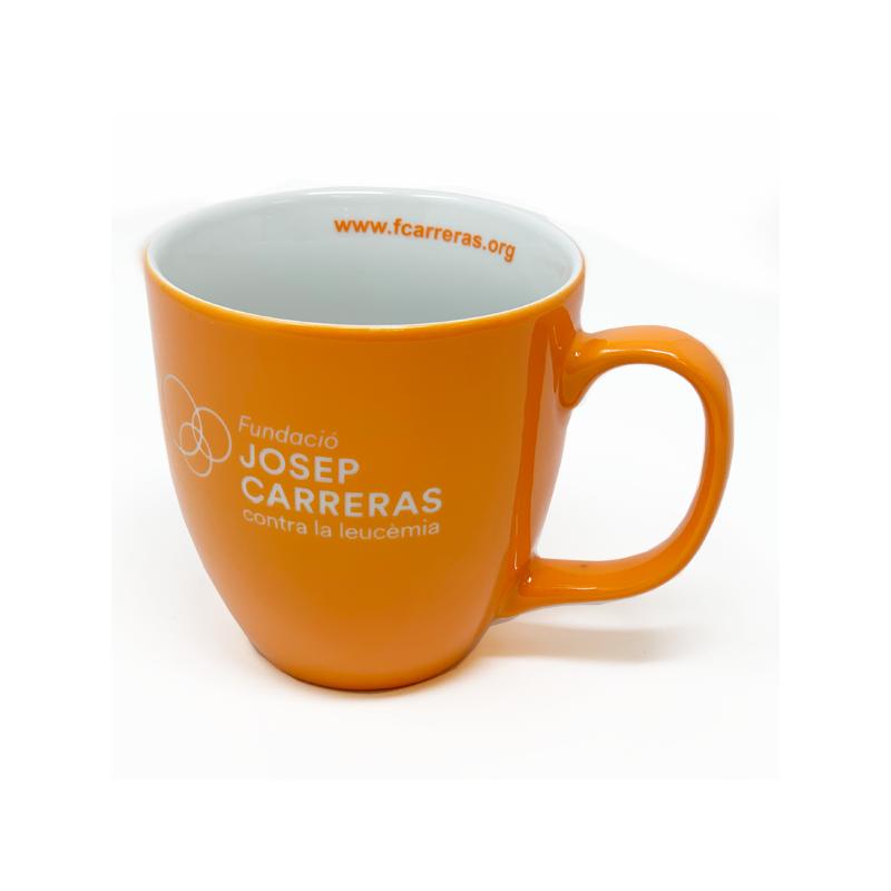 Taza solidaria para regalar de desayuno Fundación Josep Carreras catalán