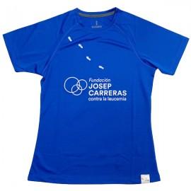 Samarreta running solidària Fundació Josep Carreras dona color blau