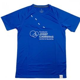 Camiseta running solidaria Fundación Josep Carreras hombre color azul