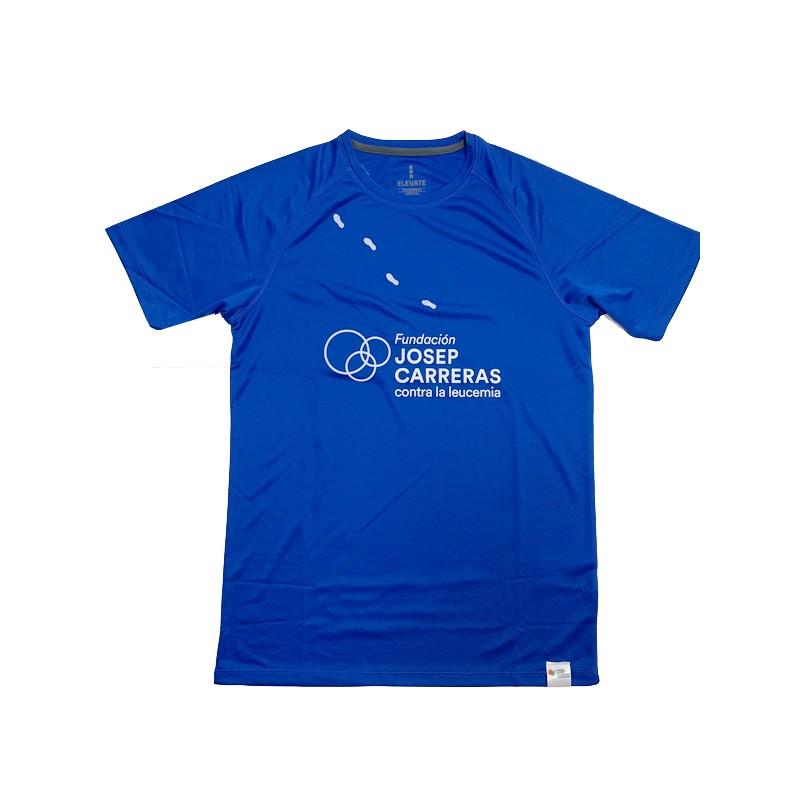 Samarreta running solidària Fundació Josep Carreras home color blau