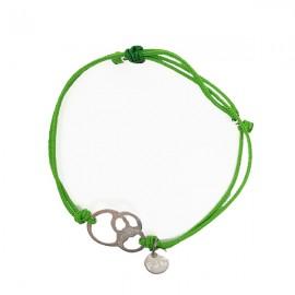 Pulsera solidaria contra el cáncer para regalar Fundación Josep Carreras color verde