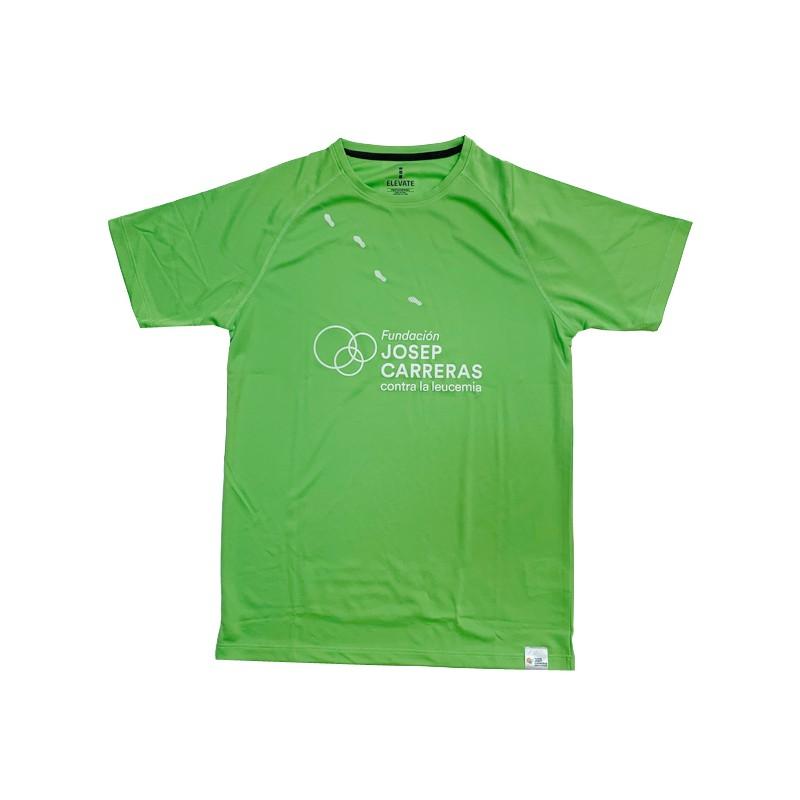 Samarreta running solidària Fundació Josep Carreras home color verd