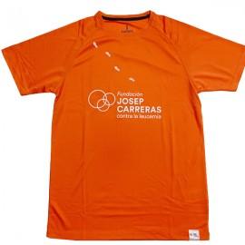 Samarreta running solidària Fundació Josep Carreras home color taronja