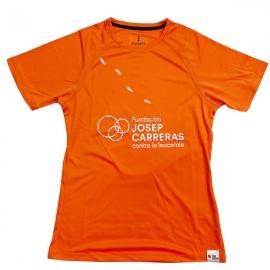 Samarreta running solidària Fundació Josep Carreras dona color taronja