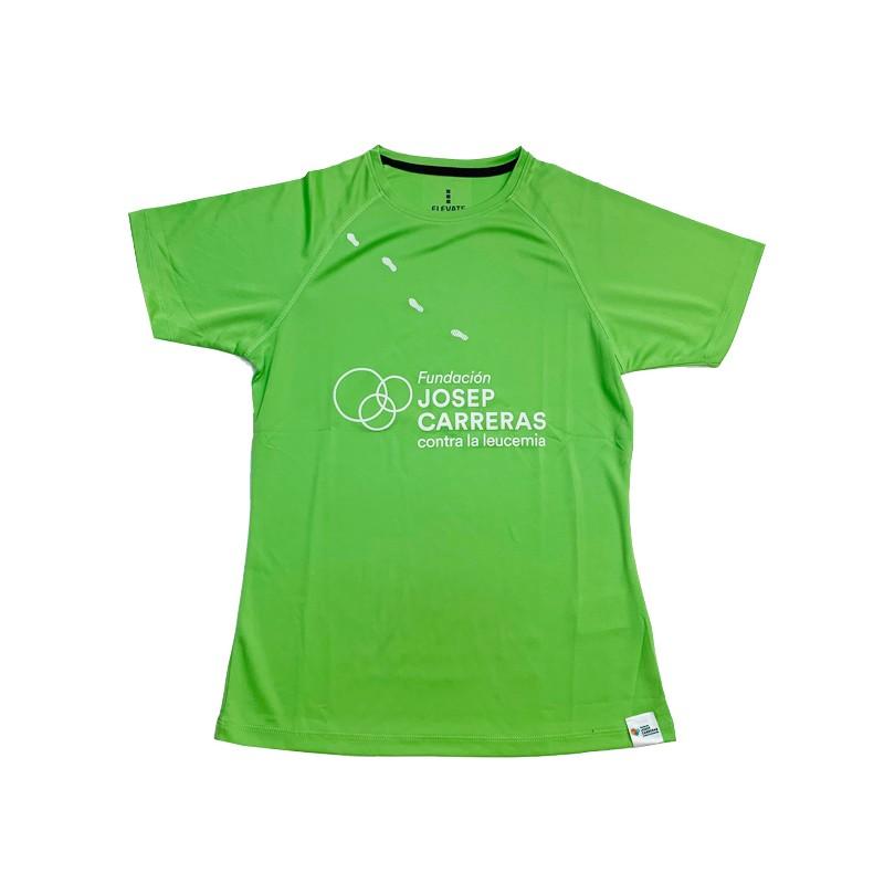 Samarreta running solidària Fundació Josep Carreras dona color verd