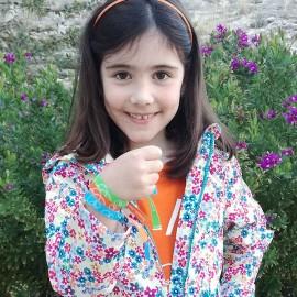 Polseres de tela solidàries per a nens contra el càncer Fundació Josep Carreras