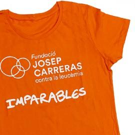 Camisetas solidarias contra el cáncer Fundación Josep Carreras catalán