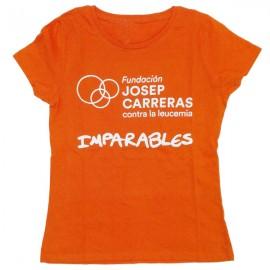 Camiseta imparables solidaria para mujer Fundación josep Carreras