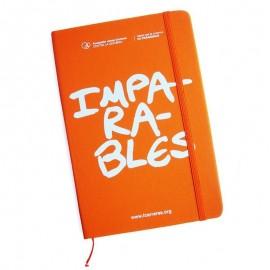 Libreta solidaria para regalar naranja Fundación Josep Carreras.