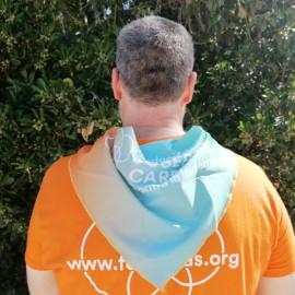Pañuelo bandana solidaria Fundación Josep Carreras catalán