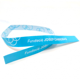 Polseres de tela blava solidària Fundació Josep Carreras català