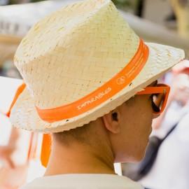Sombrero de paja unisex Fundación Josep Carreras catalán