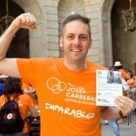 Camiseta solidaria contra el cáncer Fundación Josep Carreras para chico