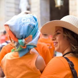 Bandana solidaria contra el cáncer Fundación Josep Carreras catalán