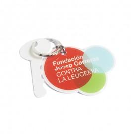 Llavero solidario contra el cáncer Fundación Josep Carreras
