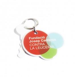 Llavero solidario catalán Fundación Josep Carreras