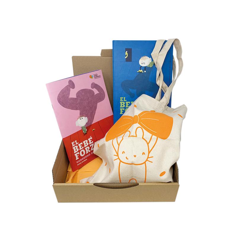 Pack regalo solidario para mamás El bebé forzudo Fundación Josep Carreras