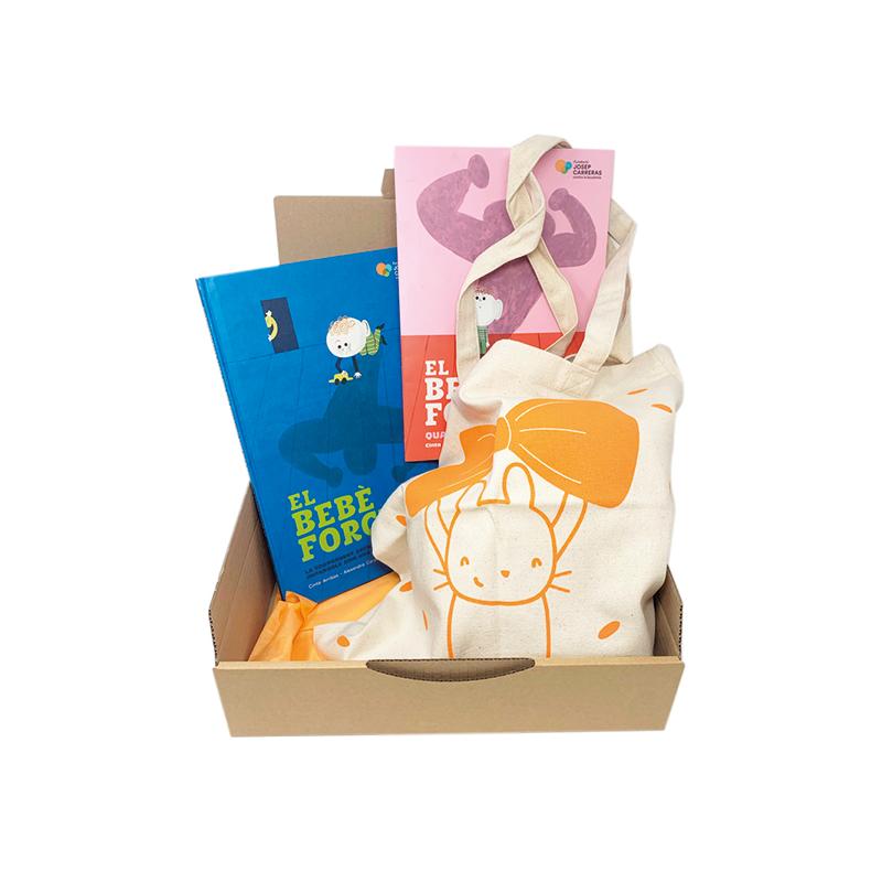 Pack regalo solidario para mamás El bebé forzudo Fundación Josep Carreras catalàn
