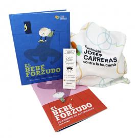 Pack regalo solidario para papás El bebé forzudo Fundación Josep Carreras