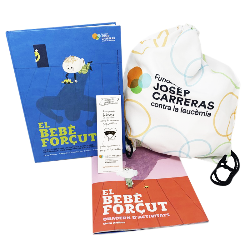 Pack regal solidari per a pares El bebè forçut Fundació Josep Carreras català