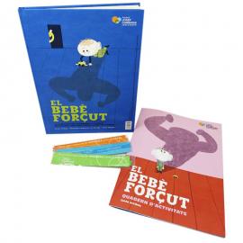 Pack regalo familiar solidario El bebé forzudo Fundación Josep Carreras catalán