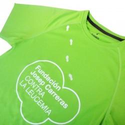 Camiseta térmica runner mujer solidaria contra el cáncer Fundación Josep Carreras verde