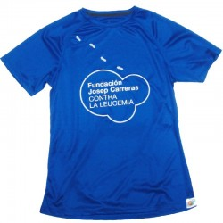 Camiseta térmica runner mujer solidaria Fundación Josep Carreras