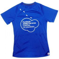 Camiseta térmica runner mujer solidaria Fundación Josep Carreras catalán