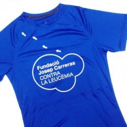 Camiseta térmica runner mujer solidaria contra el cáncer Fundación Josep Carreras catalán