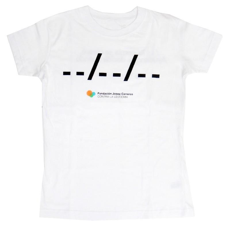 Camiseta chica solidaria contra el cáncer Ponle fecha Fundación Josep Carreras