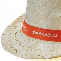 Sombrero panameño de paja regalo solidario Fundación Josep Carreras catalán