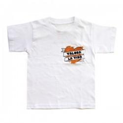 """Camiseta """"Valora la vida"""" niño castellano"""