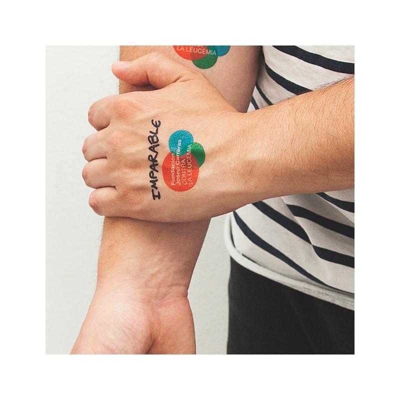 Tatuajes regalos originales para bodas y celebraciones Fundación josep Carreras
