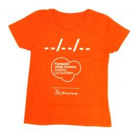 Camiseta solidaria contra el cáncer Fundación Josep Carreras 30 aniversario