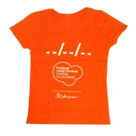 Camiseta solidaria contra el cáncer Fundación Josep Carreras 30 aniversario catalán